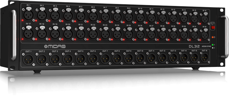 Midas DL32 - Stage Box with 32 Midas Mic Preamps