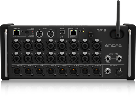 Midas MR18 - 18 Input Digital Mixer for iPad/Android Tablets
